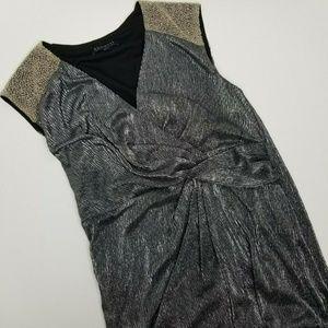 Eloquii 14 silver metallic cocktail dress